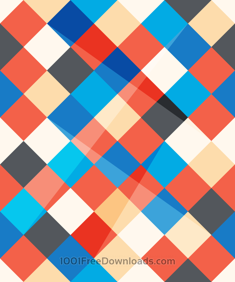 Free Abstract Angled Squares Pattern