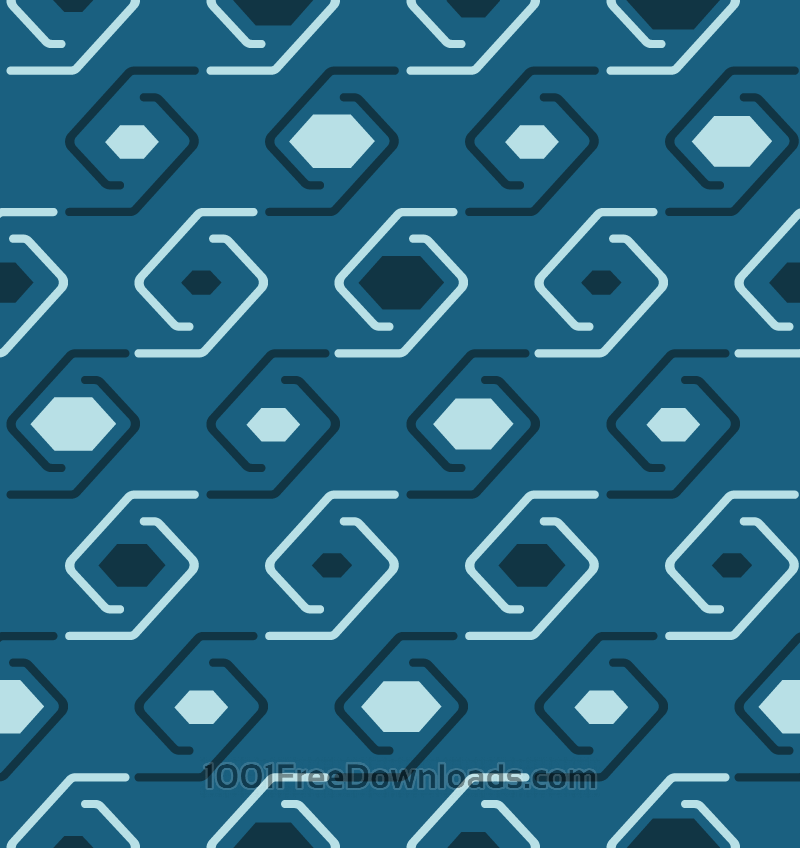 Free Geometric Swirls Pattern