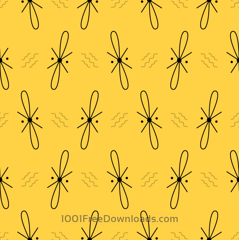Free Abstract Yellow Pattern