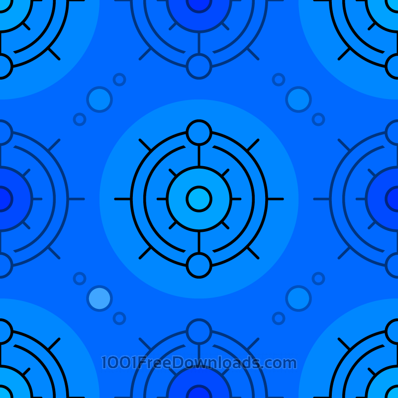 Free Vectors: Blue Circles Pattern | Patterns