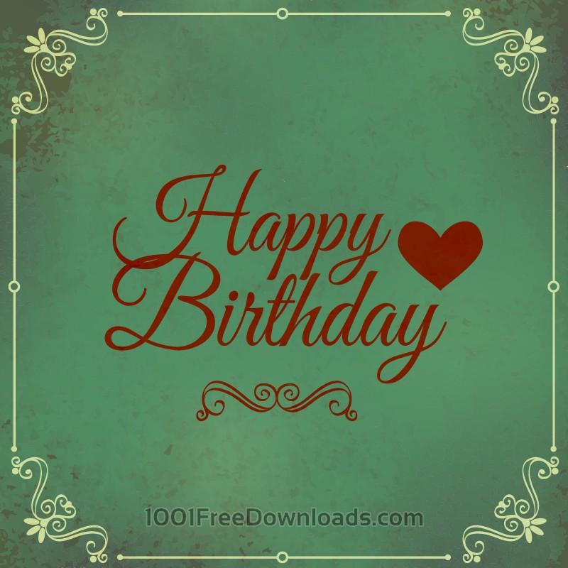 Free Happy birthday vector illustration