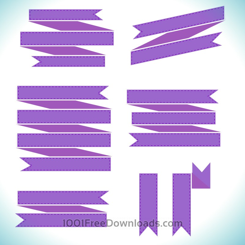 Free Vectors: Vector set of ribbons | Ribbons