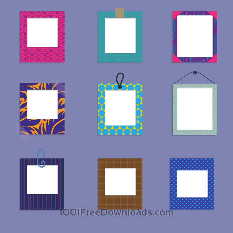 Free Vectors: Vector set of frames | Design