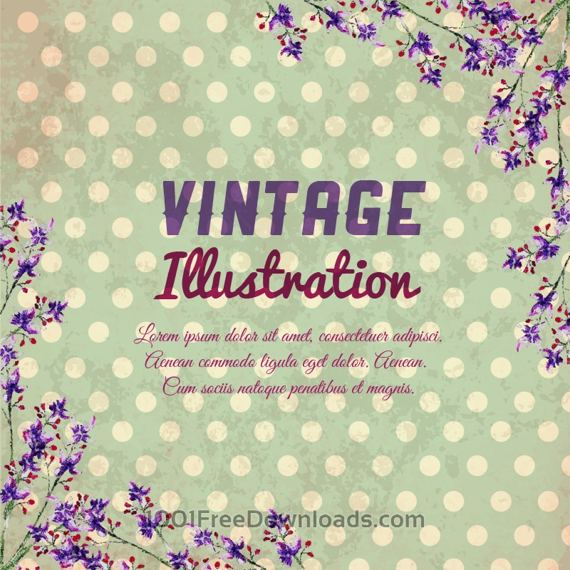 Free Vectors: Vintage flower illustration | Backgrounds