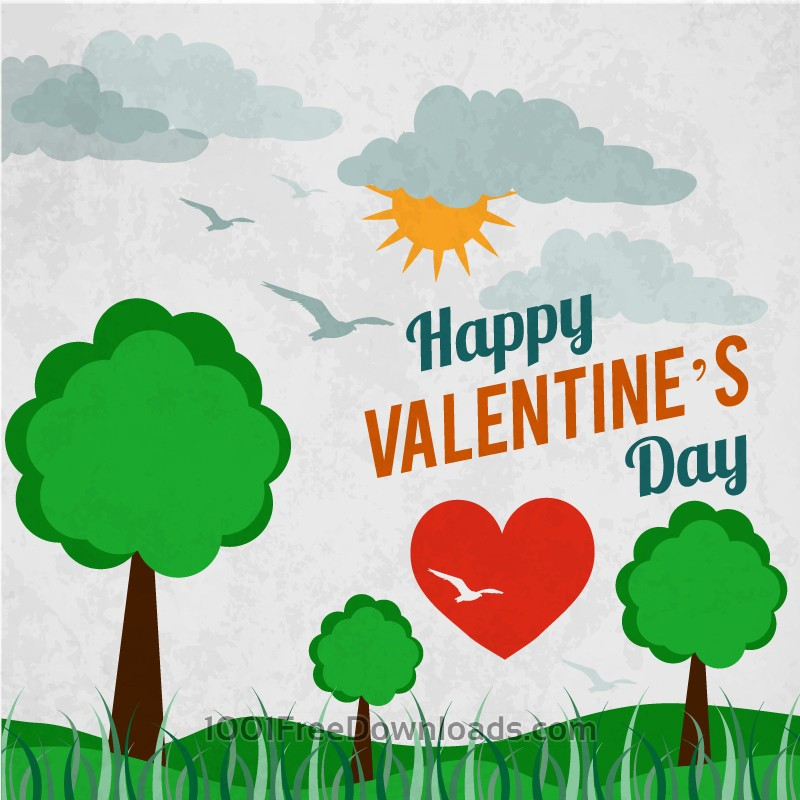 Free Vectors: Happy Valentine's Day vector illustration | Valentine