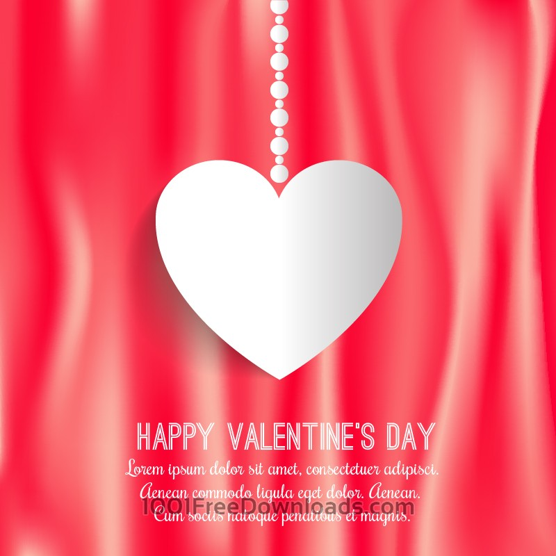 Free Vectors: Happy Valentine's Day vector illustration | Holidays