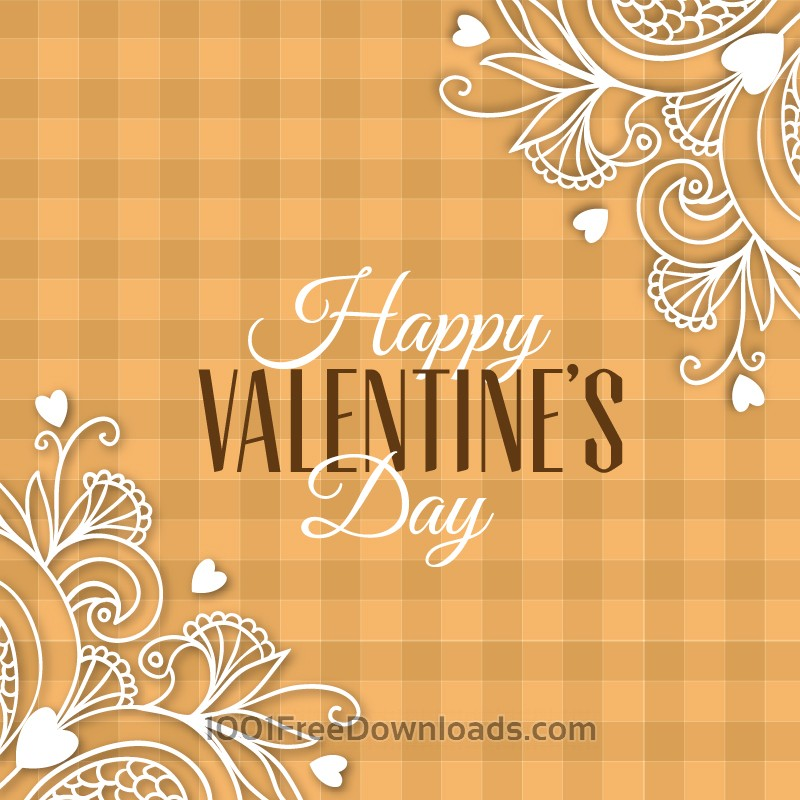 Free Vectors: Happy Valentine's Day vector illustration | Backgrounds
