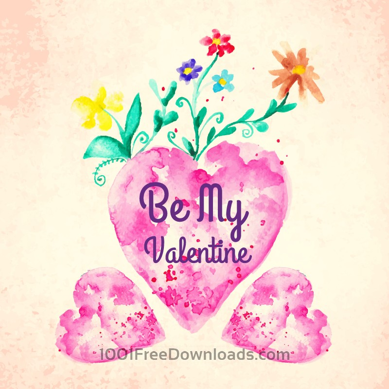Free Vectors: Happy Valentine's Day vector illustration | Flowers