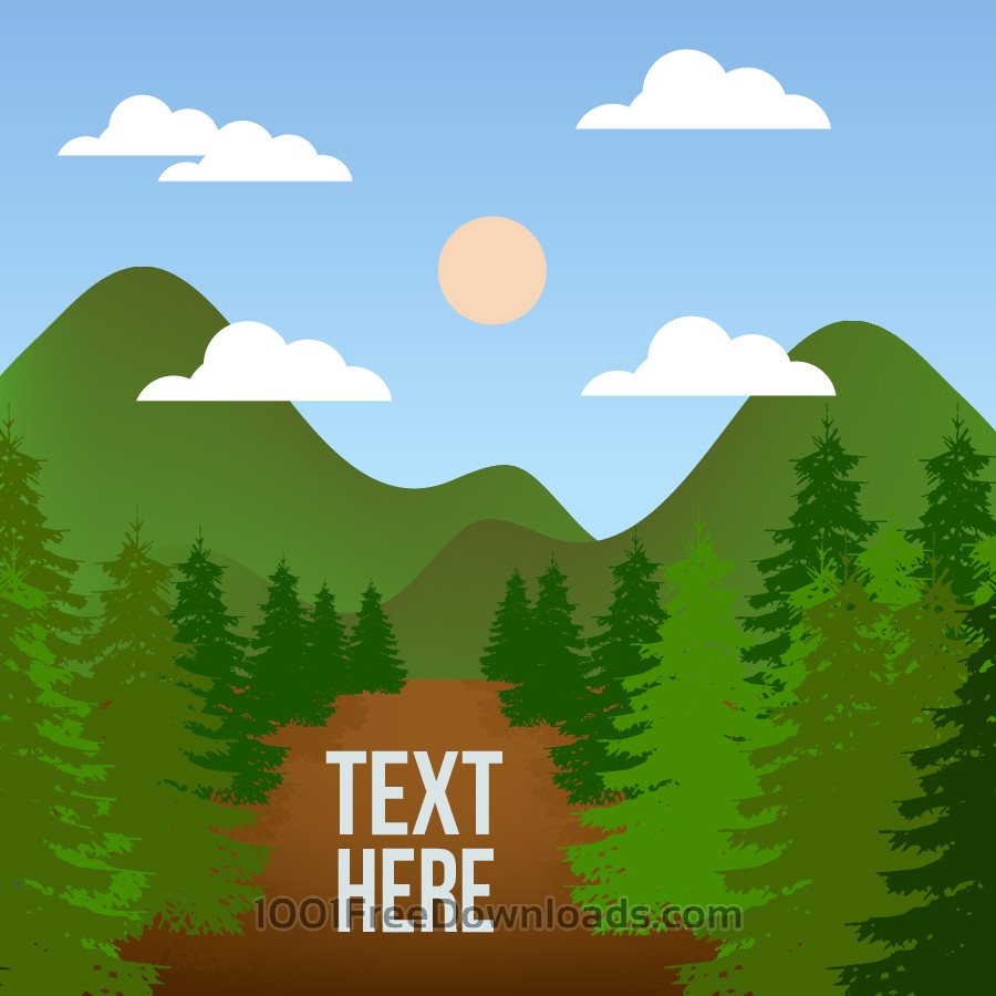 Free Vectors: Landscape illustration | Backgrounds