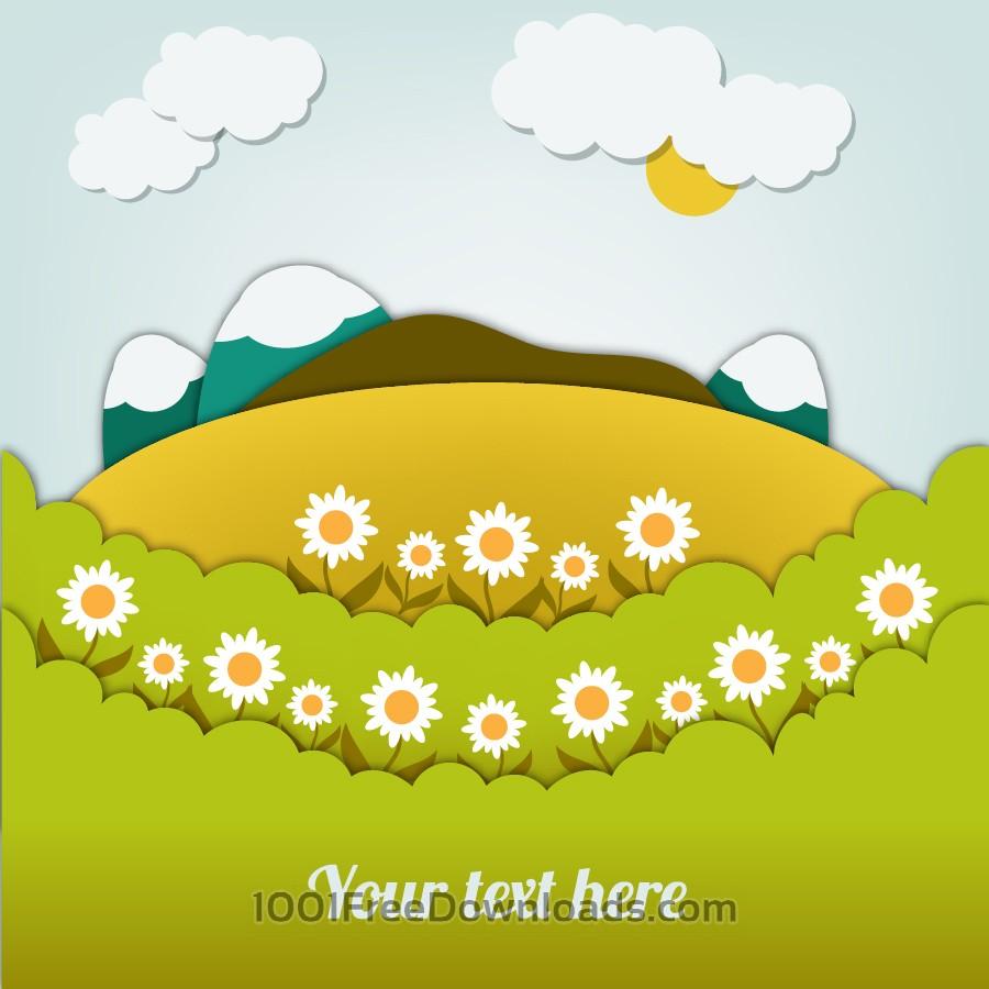 Free Vectors: Landscape illustration | Backgrounds