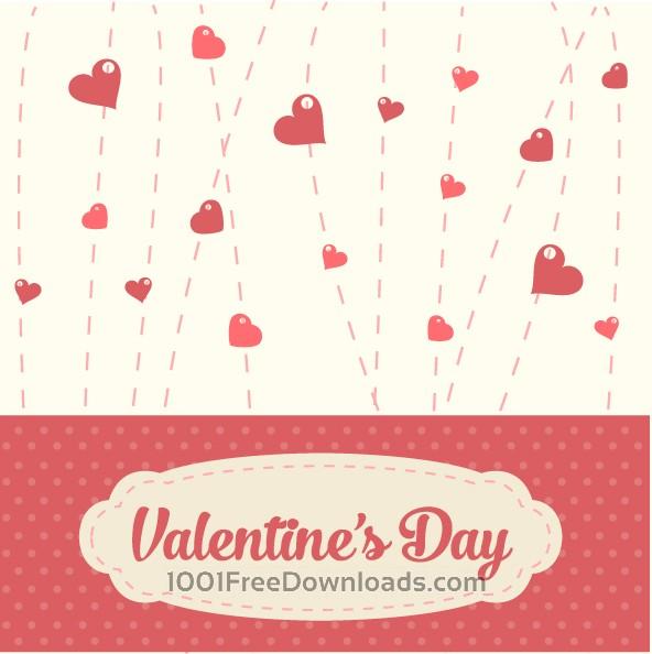 Free Vectors: Valentines Vintage Background | Valentine