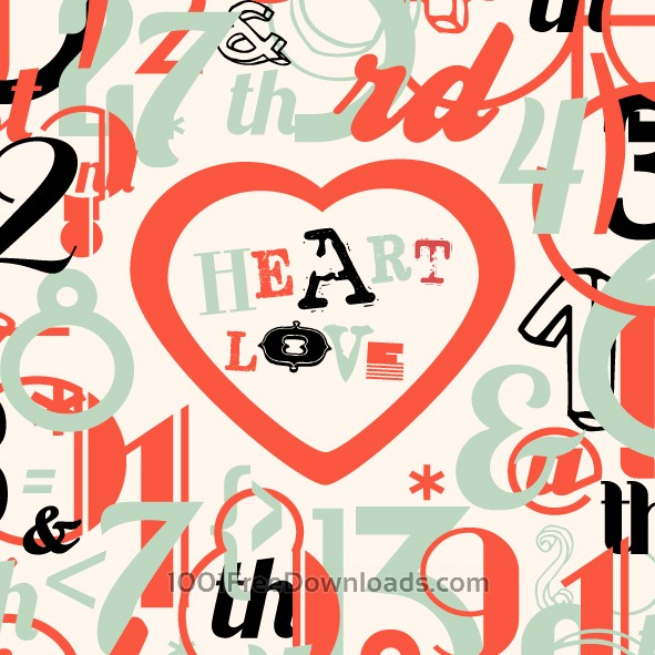 Free Vectors: Various Vintage Numbers Collection | Art