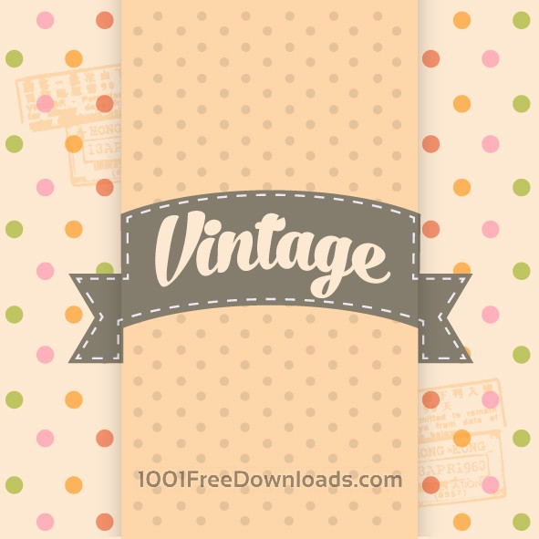 Free Vectors: Vintage Template Background | Backgrounds