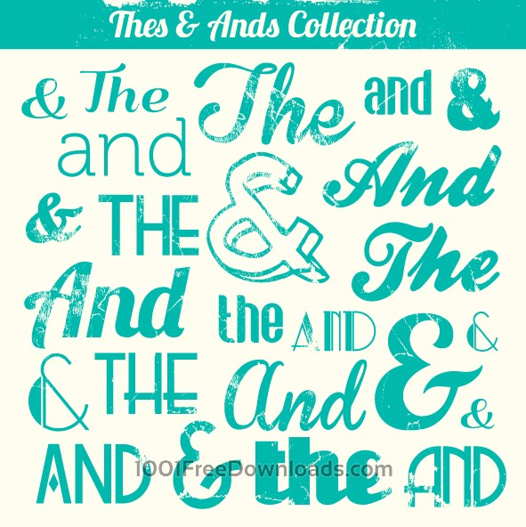 Free Various Vintage Thes & Ands Collection
