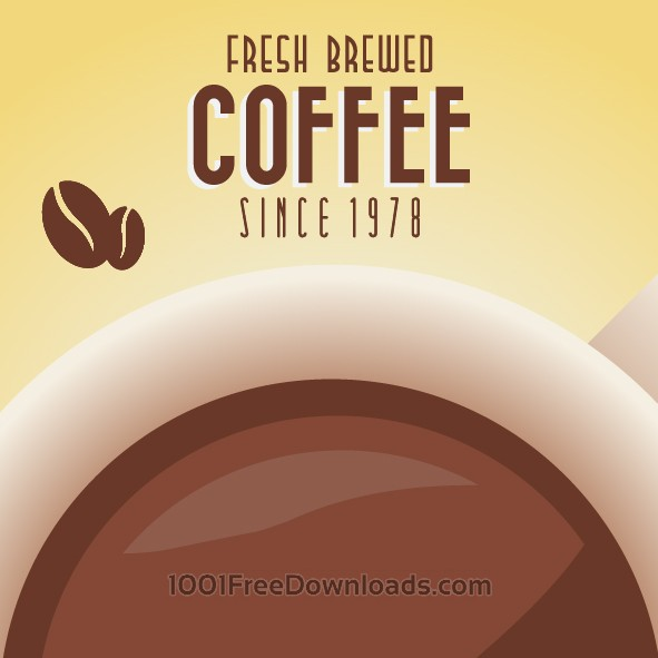 Free Vectors: Vintage Coffee Background with Typography | Backgrounds