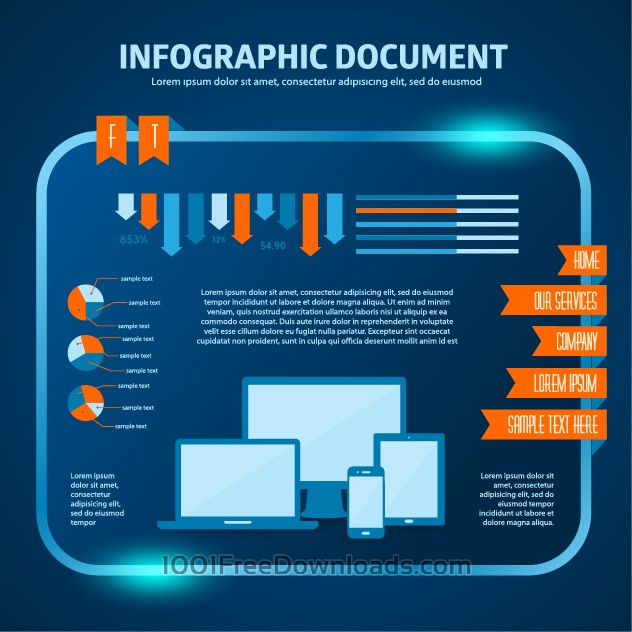 Free vector set of infographic elements for your documents