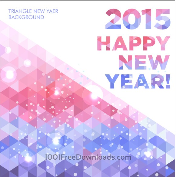 Free Vectors: 2015 Happy New Year | Abstract