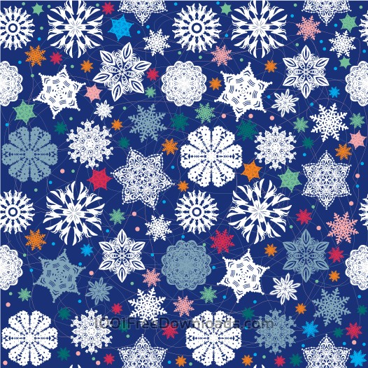 Free Vectors: Christmas snowflake pattern. | Abstract