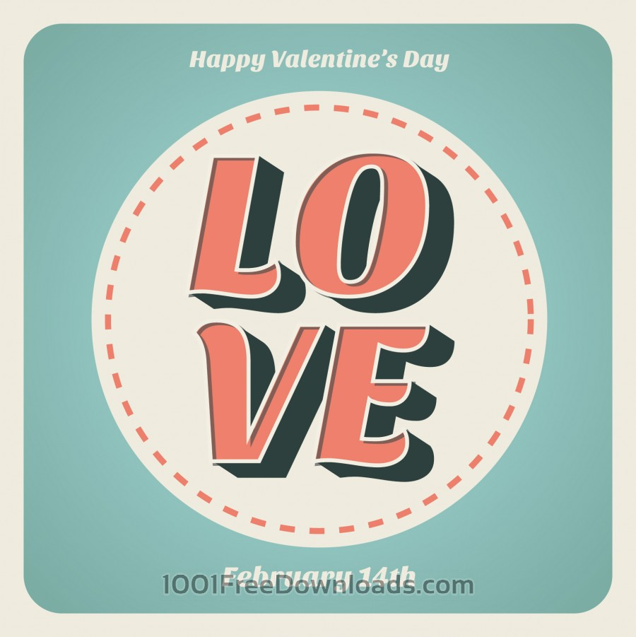 Free Valentines day typographic background