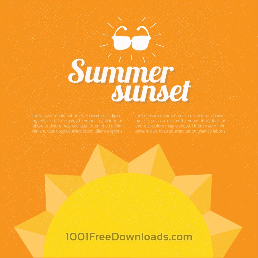 Free Vectors: Summer background with text | Backgrounds