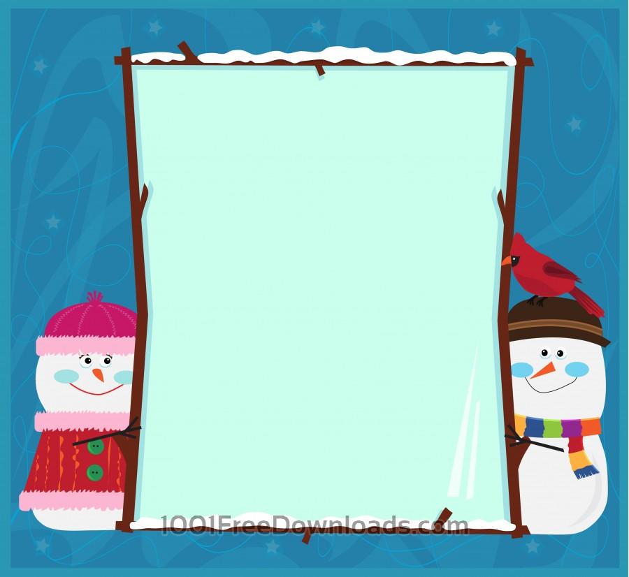 Free Snowman Banner