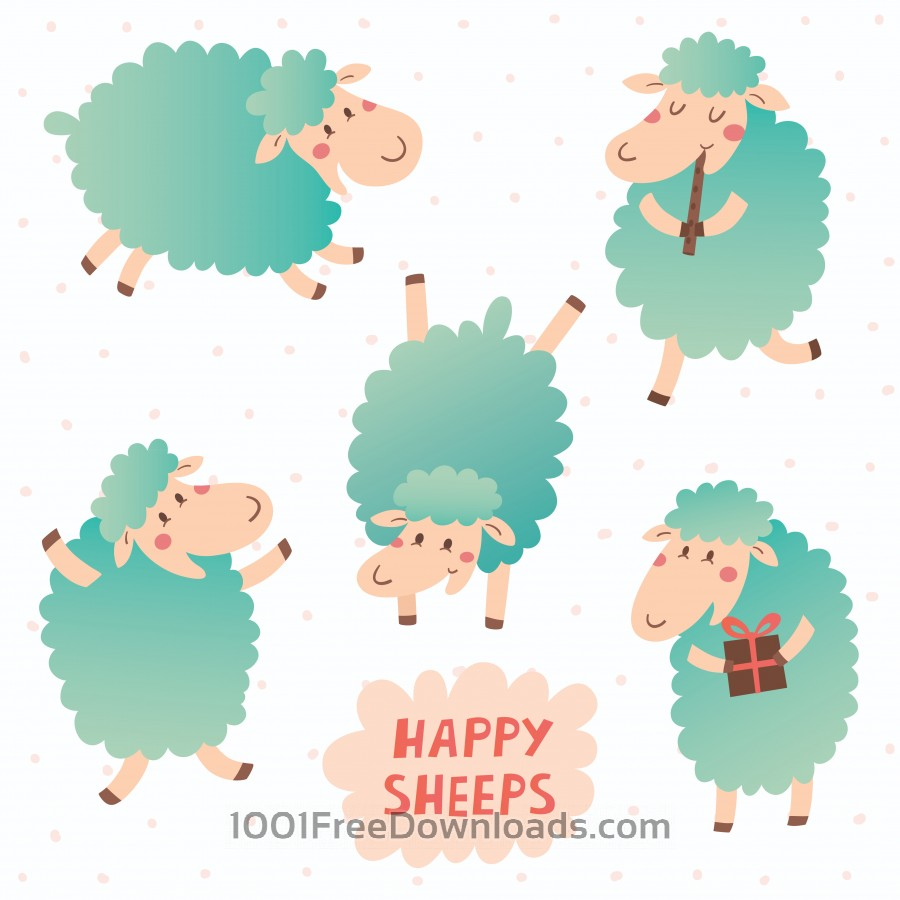 Free Happy sheeps