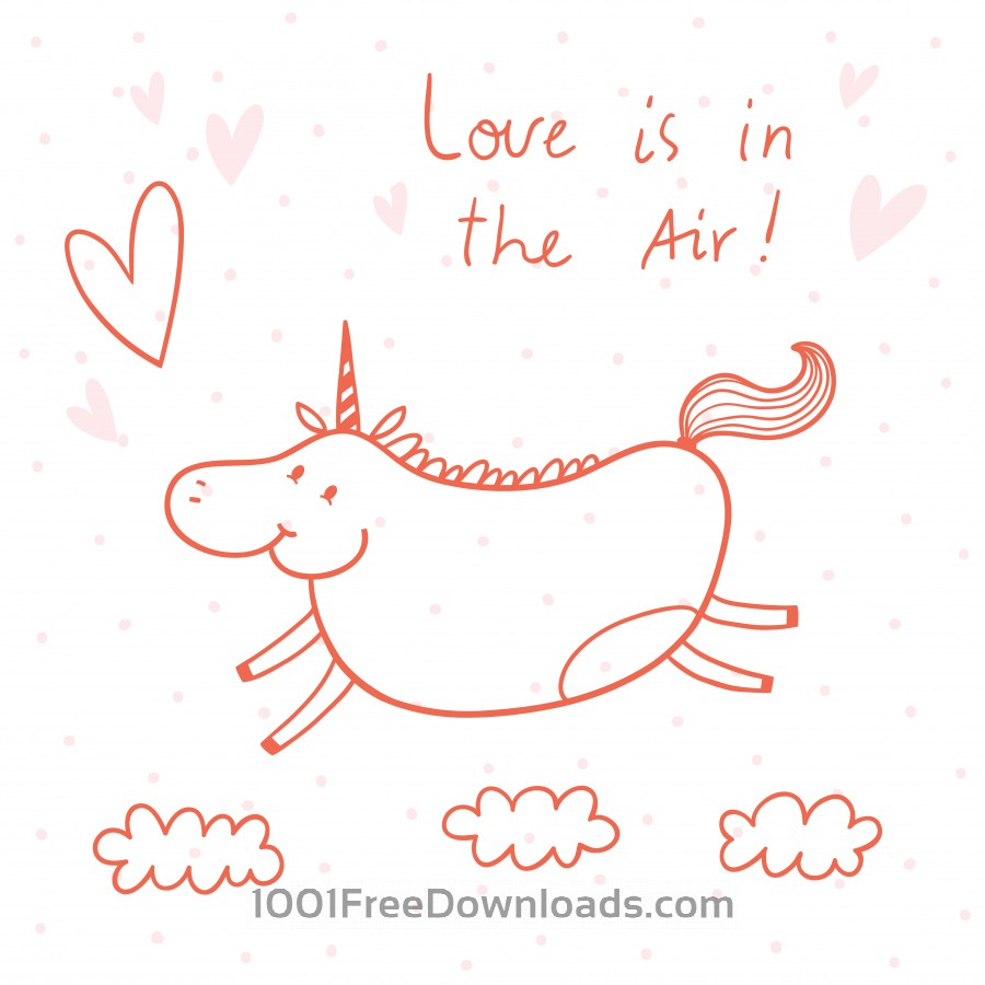 Free Vectors: Illustration of happy unicorn | Abstract