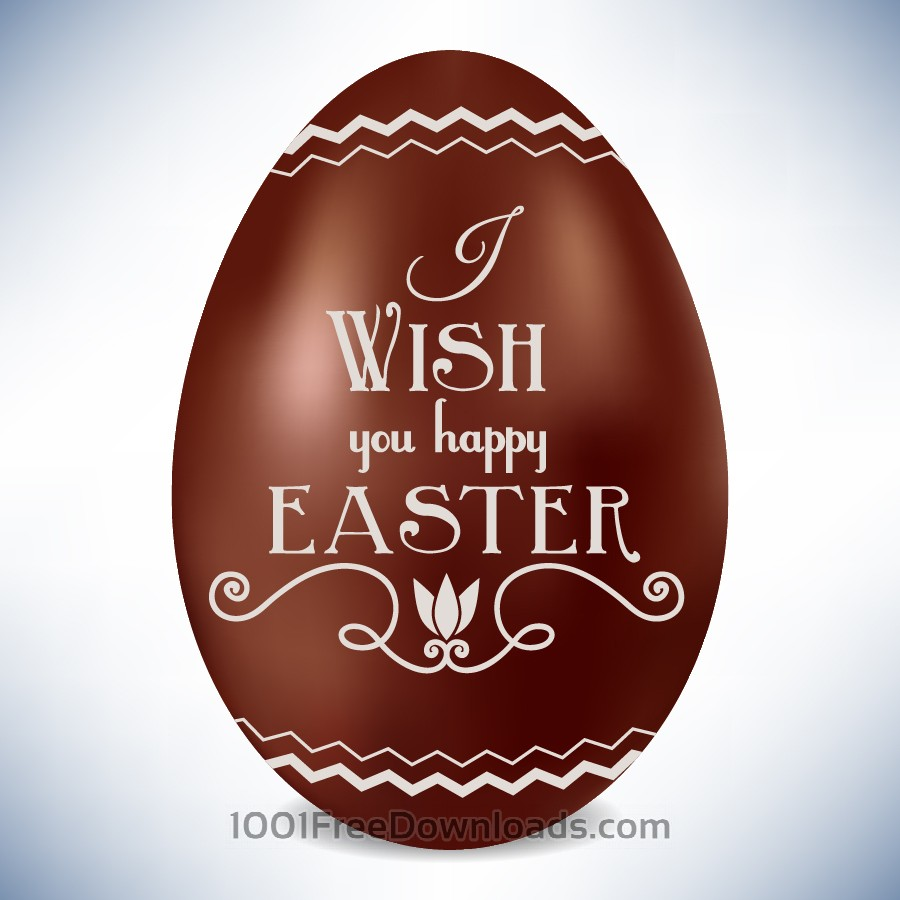 Free Easter illustration with chocolate egg