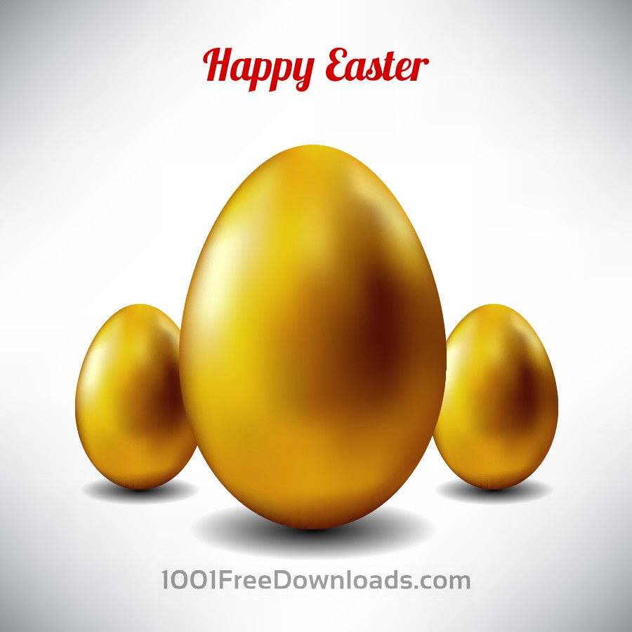 Free Vectors: Easter illustration with golden egg | Abstract