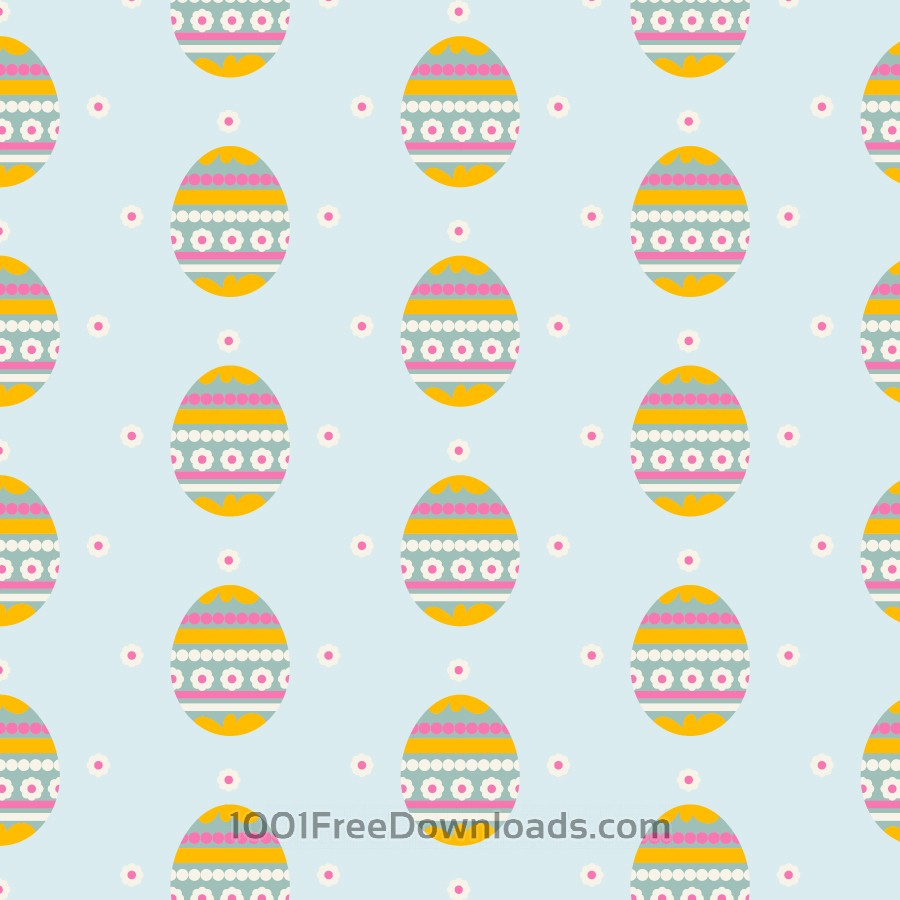 Free Easter pattern with eggs