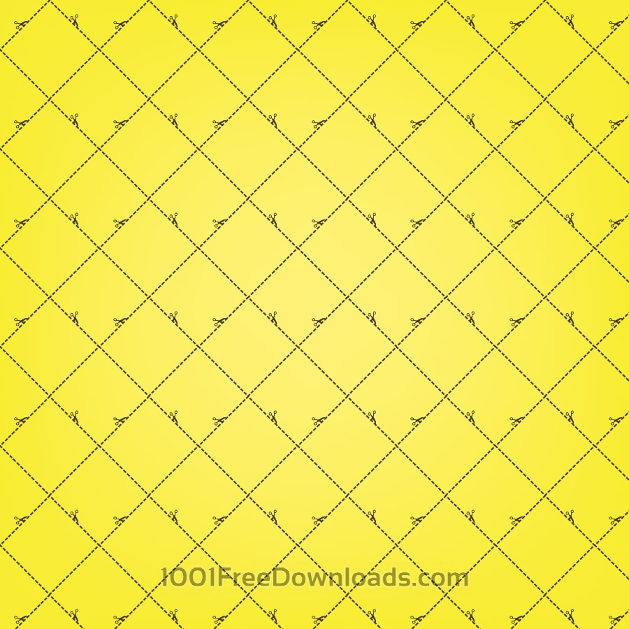 Free Yellow Squares Pattern With Scissors