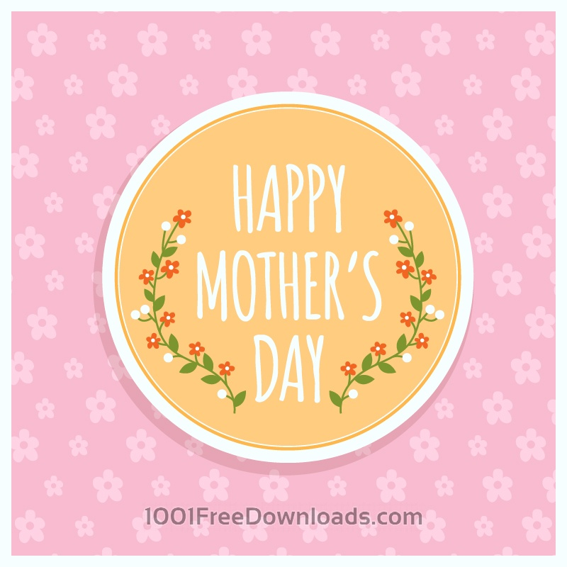 Free Vectors: Happy Mother's day Illustration | Abstract