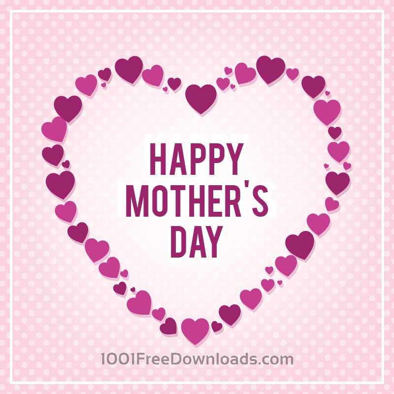 Free Happy Mothers's Day Typo With Heart