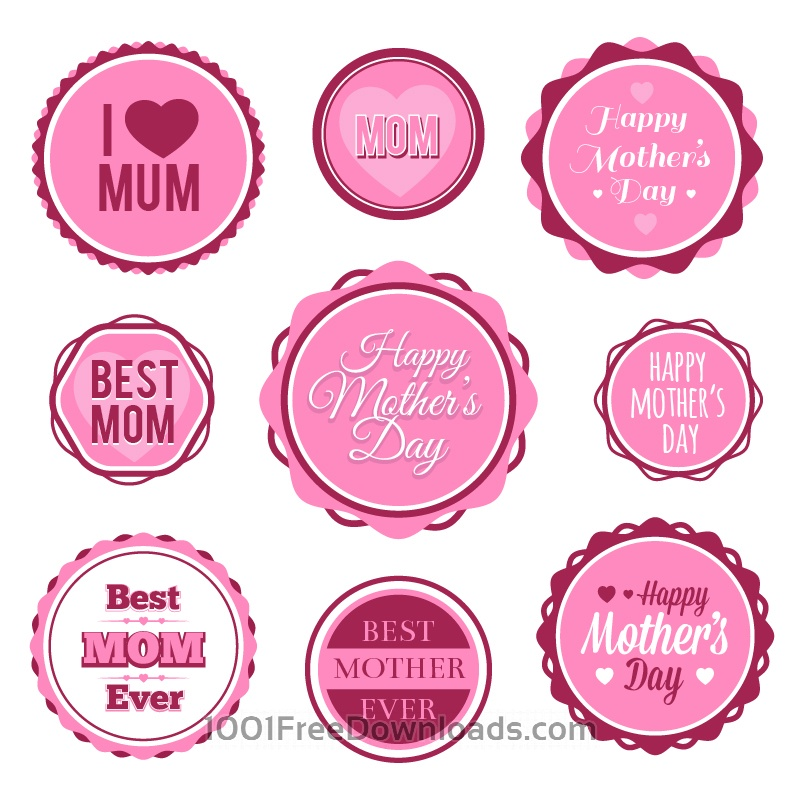 Free Mother's Day Badges And Labels