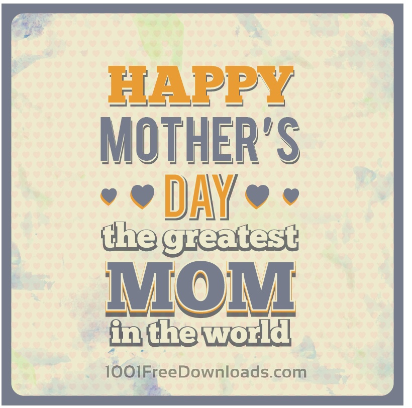 Free Vectors: Mother's Day Typography | Abstract