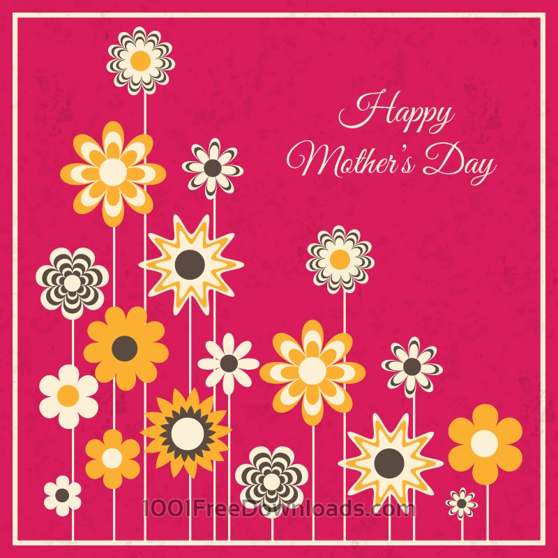 Free Vectors: Mother's Day Card | Abstract
