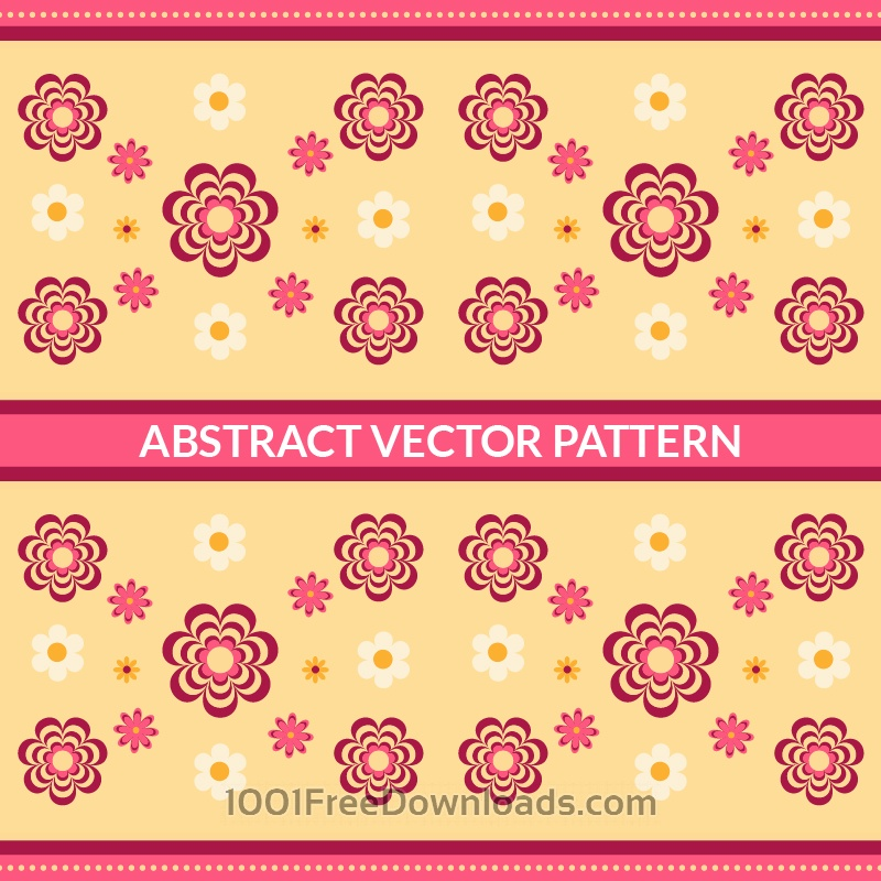 Free Vectors: Abstract Floral Pattern | Abstract