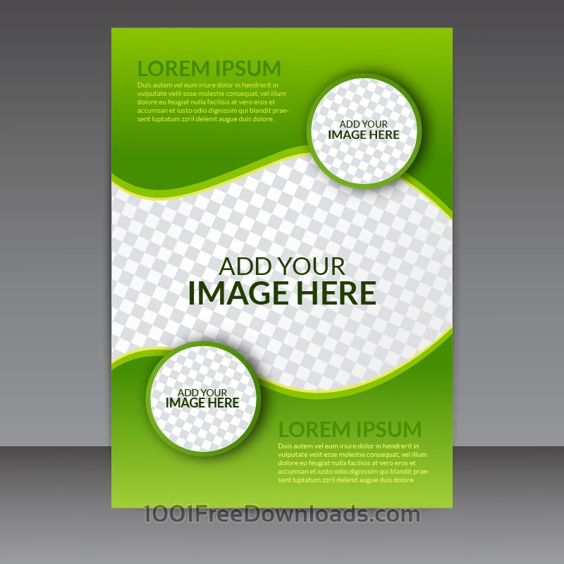 Free Vectors: Green Business Vector Flyer Template | Abstract