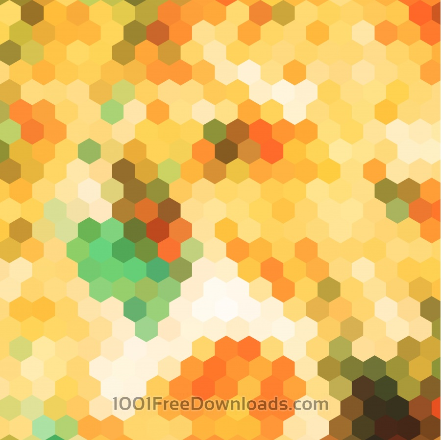Free Vectors: Abstract yellow hexagon pattern background | Abstract