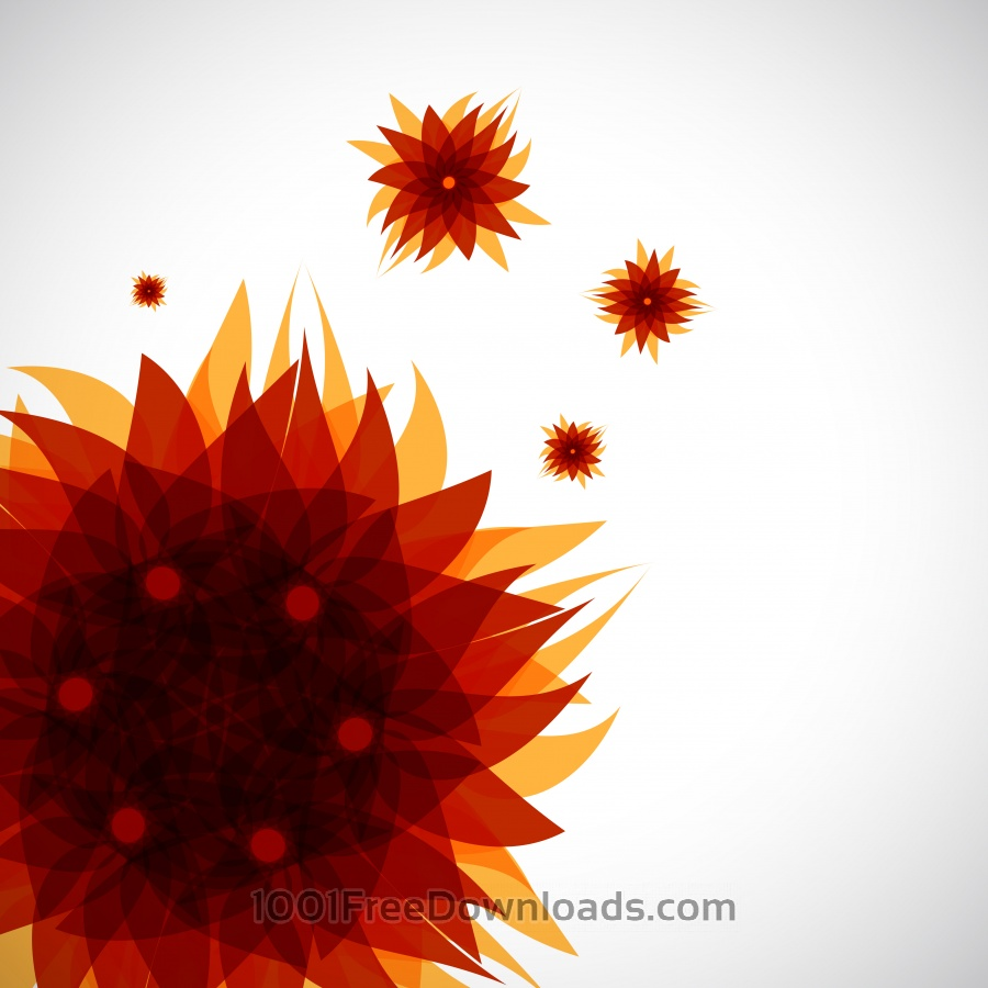 Free abstract brown flower pattern
