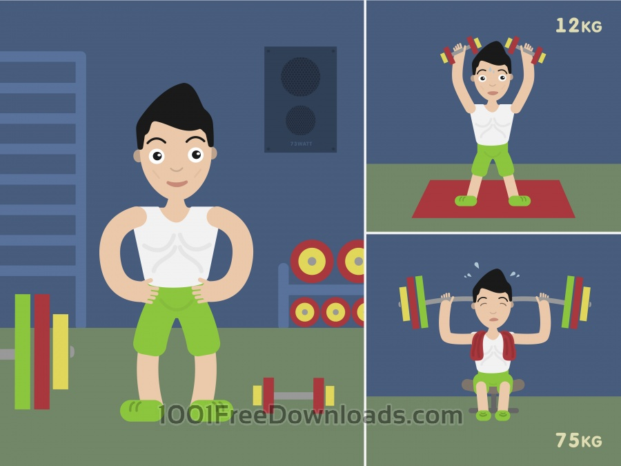 Free Sportsmen vector character illustration