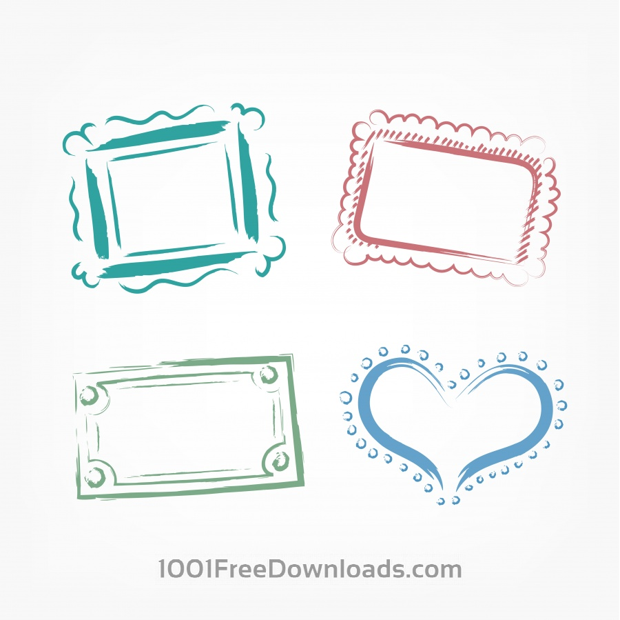 Free Vectors: Vector decoration frames for birhday or wedding design | Abstract