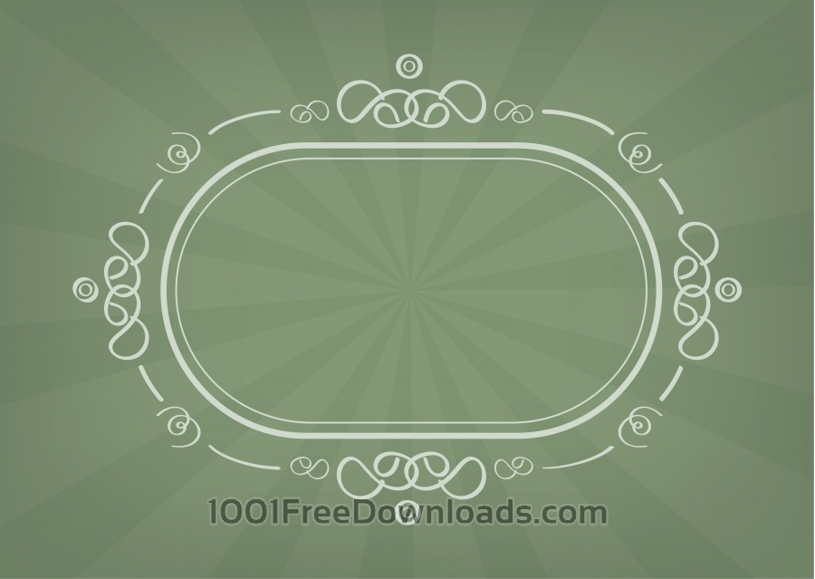 Free Vector decoration frame for birhday or wedding design