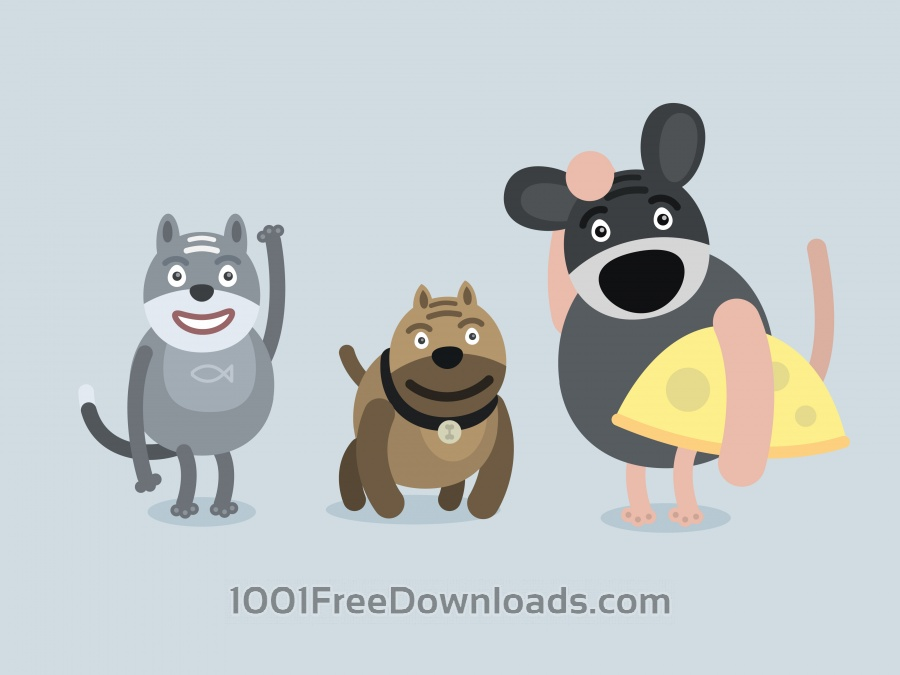 Free Vector cartoon characters illustration