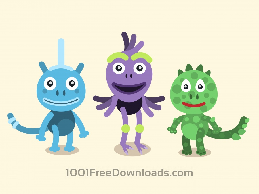 Free Vector cartoon mascots characters illustration