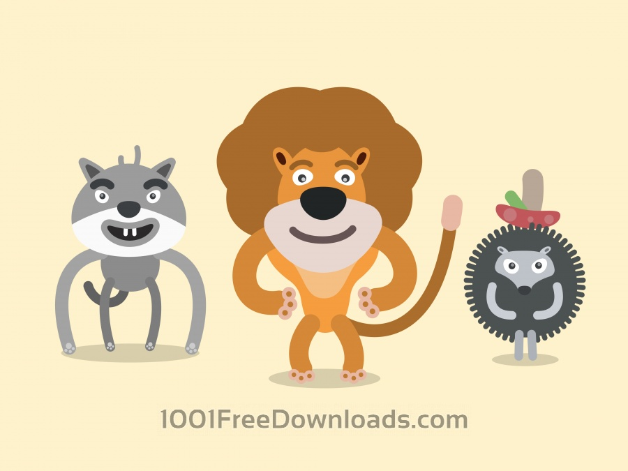 Free Vector cartoon wild characters illustration
