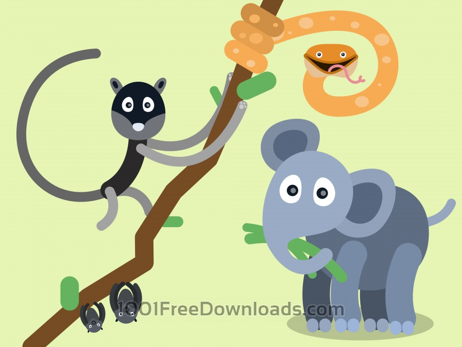 Free Vectors: Vector cartoon characters illustration | Nature