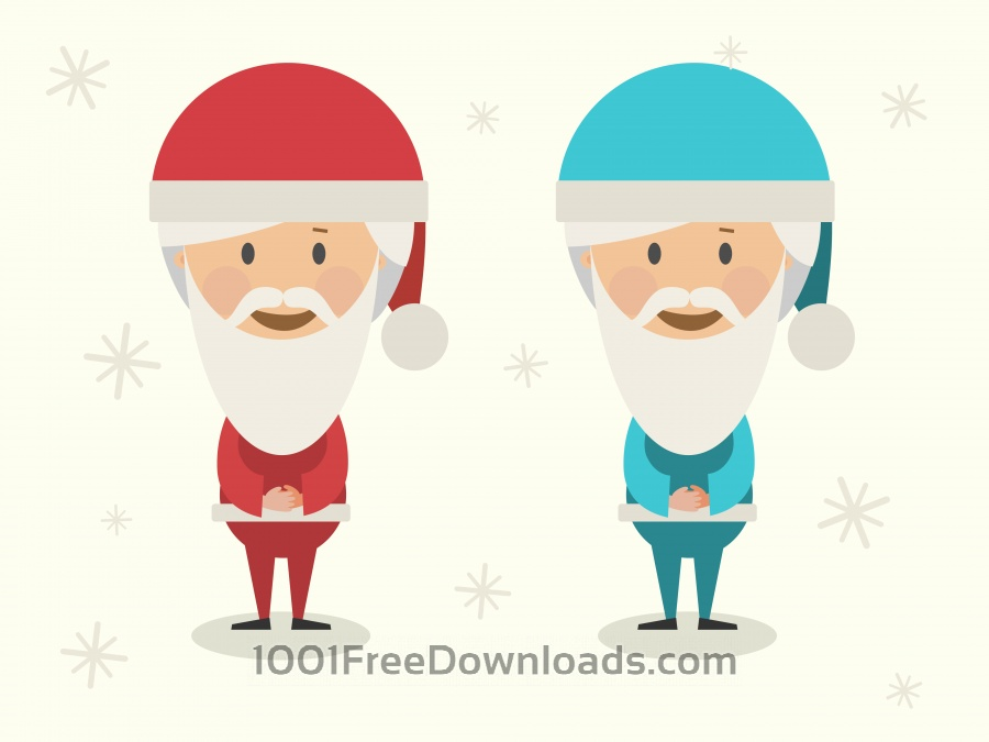 Free Vector cartoon characters illustration for new year