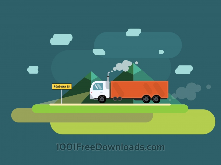 Free Vector transport illustration for design