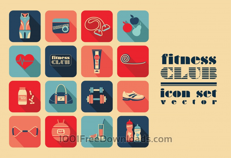 Free Fitness Icons set